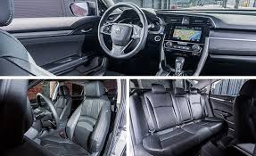 honda civic 2016 interior. view 19 photos compared with its generously creased quasihatchback exterior styling the civicu0027s interior looks positively pedestrian honda civic 2016