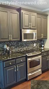 chalk painted kitchen cabinets. Painting Kitchen Cabinets Brush Or Spray Beautiful Annie Sloan Chalk Paint In Graphite Dark Wax Painted