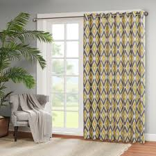 shop madison park stetsen diamond printed patio door curtain panel on sale free shipping orders over 45 overstockcom 10889496 patio door curtains i74