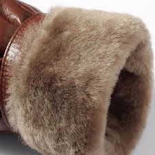 manvelous fur collar leather jacket men winter brown mens leather fur coats black warm thick leather