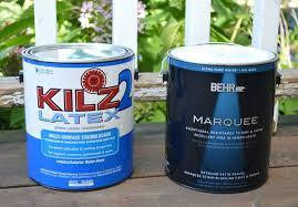 exterior paint primer tips. repaint porch railings-behr marquee exterior paint and kilz primer tips