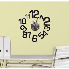 Small Picture Contemporary Wall Stickers Clock Jomoval