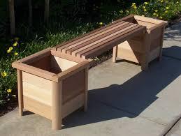 garden bench planter box. outdoor wood bench with planter boxes garden box e