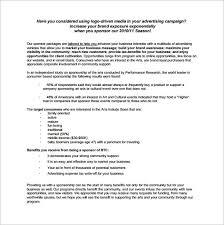 Sponsorship Proposal Template 22 Free Word Excel Pdf