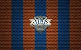 New york knicks logo license: Download Wallpapers New York Knicks Logo American Basketball Club Metal Emblem Blue Orange Metal Mesh Background New York Knicks Nba New York Usa Basketball For Desktop Free Pictures For Desktop Free