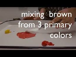 color mixing mixing brown from from