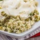 asparagus  roasted garlic and lemon risotto