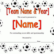 Soccer Certificate Templates For Word Soccer Award Certificate In Microsoft 376831600264 Free
