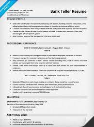 Bank Teller Resume Sample Writing Tips Resume Companion