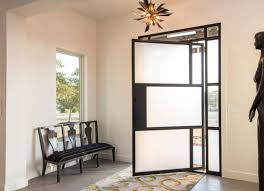 pivot front doors freshome com a frosted glass