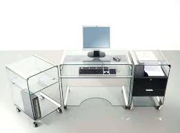 glass top office desk modern. Desk Glass Top Office Modern Small White With Drawers Full Size Of . Furniture F