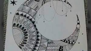 طريقة رسم مانديلا هلال رسم سهل وسريع بالصور - YouTube