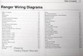 ford ranger electrical wiring diagrams original factory 2002 ford ranger wiring diagrams table of contents