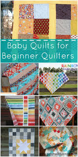 20 Baby Quilts for Beginners & baby quilts for beginner quilters | PatchworkPosse #freepattern #sewing  #baby Adamdwight.com