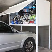over car storage and garage lockers