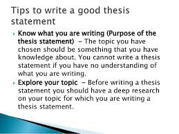 Writing A Thesis Statement Tips To Write Thesis Statement And Thesis Proposal