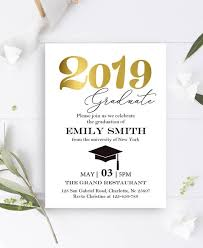 Graduation Announcements Template Graduation Invitation Template Graduation Invitation Instant Download Class 2019 You Edit Editable Pdf Graduation