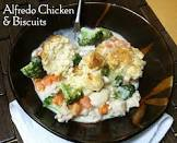 alfredo chicken and biscuits