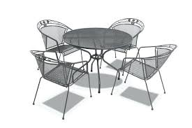 black metal outdoor table and chairs mesh tables bring some elegance to your outdoors with royal