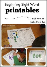 How to make sight word worksheets FUN - The Measured Mom