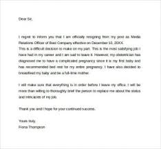 Ideas Collection Sample Resignation Letter Due To Pregnancy ...