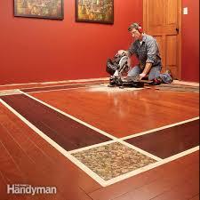 diy hardwood floors lay a contrasting border
