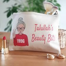 were born birthday makeup bag