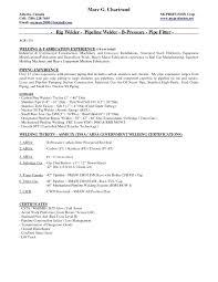 Welder Resume Examples Of Pipe Fitter Job Description Duties Sample