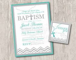 Baptism Invitations With Rosary Free Matching Thank You Tag Chevron Baptism Or Christening Invitation Digital File