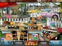 Hidden object games (hog) are sometimes called hidden pictures, and they are part of a genre of puzzle video games in which you have to find items from a list that are hidden within a picture. Little Shop 5 Memories Gamehouse