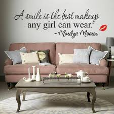 Marilyn Monroe Living Room Decor Face Wall Sticker Marilyn Monroe Quote Wall Decal Vinyl Art