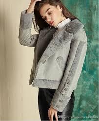 new autumn winter style women fashion suede fabric motorcycle jacket coats las s elegant big lapel short jackets girls warm biker jacket women motorcycle