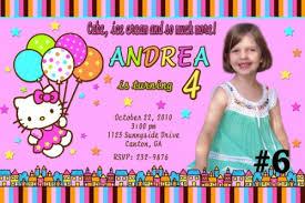 Hello Kitty Custom Photo Birthday Party Invitations Free