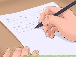 3 Ways To Write A Research Paper On The History Of The English Language