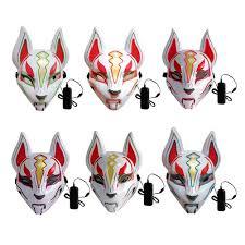 Led Fox Light Price 2020 New Fox Full Face Neon Mask Light Led Mask Halloween