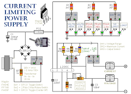 how to build a simple current limiting bench power supply a schematic diagram of a current limiting bench power supply unit