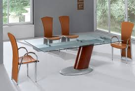 furniture attractive round glass extending dining table square and chairs black set for steel modern pedestal