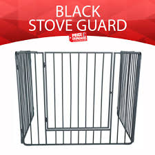 extend fire guard screen child safety baby nursery universal stove guard black