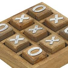Wooden Naughts And Crosses Game