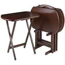 Decorative Tv Tray Tables Amazon Winsome Wood TV Tray Set Kitchen Dining 55