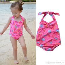 2018 2018 Swimsuit Kids Baby Girls Watermelon Bikini Swimwear ...