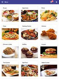 restaurant menu design app restaurant menu app ezee i menu for table top tablet
