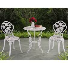 White iron outdoor furniture Wicker Quickview Biotechgroupinfo Outdoor Bistro Sets Youll Love Wayfair