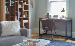 Living room office Soft Modern Accent Chair and Kirby Desk