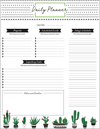 Daily Planner Printables Printable Planner Designs From Xerox