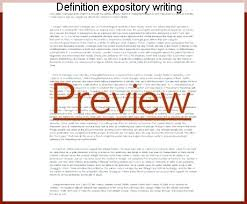 Define Expository Essay Informational Writing Definition Essay Examples And