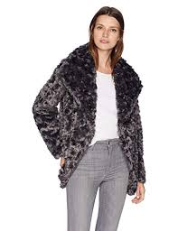 T Tahari Coat Size Chart T Tahari Womens Reversible Faux Fur Coat With Asymmetrical Closure