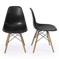 Modern chair plastic Eames Image Unavailable Amazoncom Amazoncom Belleze Set Of 2 Classic Dsw Molded Plastic Side