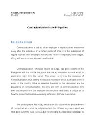 leg essay employment labour economics