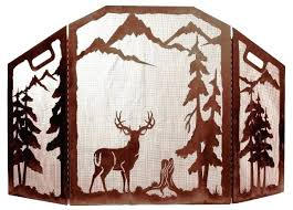 decorative fireplace screen deer in forest rustic decorative fireplace screen decorative fireplace screens ireland